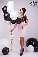 """Коктейльное платье """"Беверли""""   розовый"""