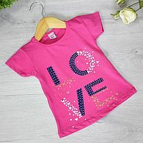 Дитяча футболка, трикотаж, для дівчинки 1-6 років (5 од. уп)