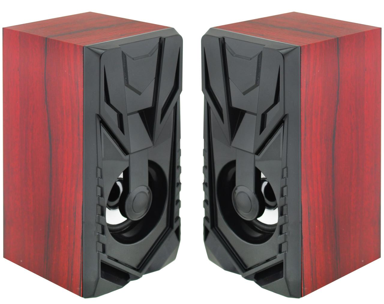 Колонки для ПК комп'ютера Prime FT-858AC 220V Red Wooden (7627)