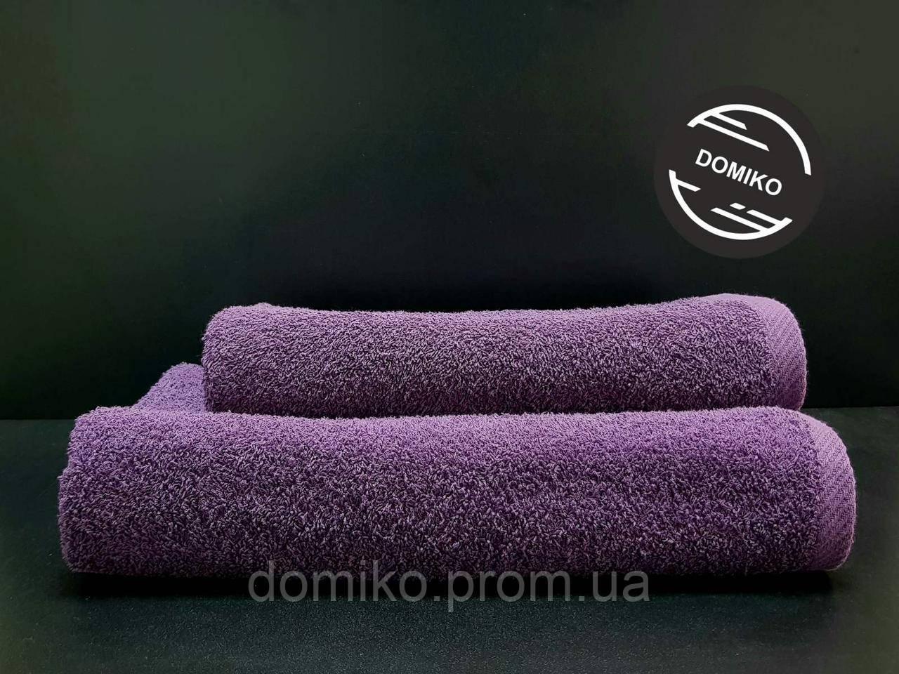 Полотенце махровое гладкокрашеное   50*90 фиолетовое Узбекистан