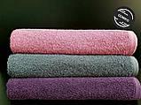 Полотенце махровое гладкокрашеное   50*90 фиолетовое Узбекистан, фото 3