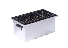 Коптильня н/ж для горячего копчения крышка Домик 1,5мм 51х30х32см