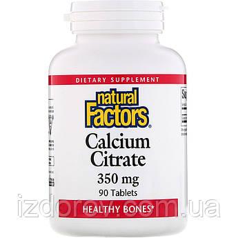 Natural Factors, Цитрат кальция, Calcium Citrate, 350 мг, 90 таблеток