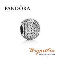 Pandora шарм ШАР ПАВЕ 791051CZ серебро 925 циркон Пандора оригинал
