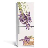 Виниловая наклейка на холодильник Лаванда (пленка самоклеющаяся)