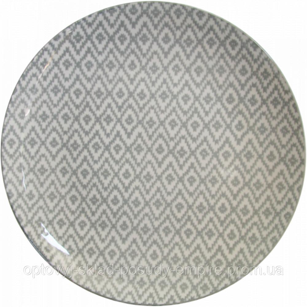 Тарелка обеденная Milika Thai Silk Skiey 27см M0480-26-D4