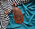"""Ключниця з кільцем з натуральної шкіри з художнім тисненням """"Морський вовк"""", фото 2"""