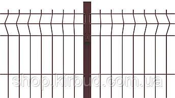 Заборная секция ELIT 1500ммх2500мм  Оцинкованная проволока 4/4мм + цветное полимерное покрытие RAL, фото 2