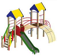 Детские площадки Башня-2 длиной 590см двухбашеный комплекс во двор