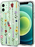 Чехол Spigen для iPhone 12 / iPhone 12 Pro - Ciel, Flower Garden (ACS01728)