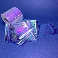 Фольга битое стекло для дизайна ногтей 1м голограма