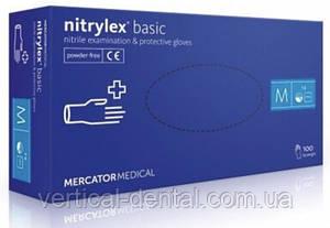 Перчатки Nitrylex basic нитриловые уп. 100шт размеры