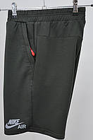 Трикотажні шорти Nike 3030 (отражайка) Хакі, фото 1