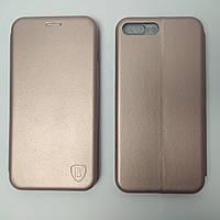 Чехол книжка для iPhone 7 Plus Baseus Premium Edge телефона с магнитом Розовое золото