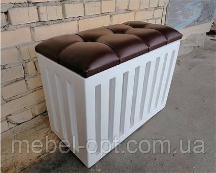 Ящик с мягким сиденьем для хранения белья, игрушек и вещей, фото 2