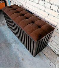 Ящик с мягким сиденьем для хранения белья, игрушек и вещей, фото 3