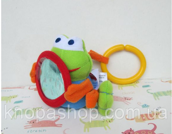 Лягушка  игрушка подвеска  на дугу, коврик, кроватку, кресло Tiny Love