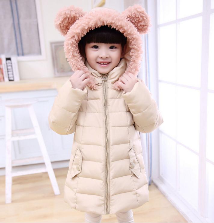 """Детское зимнее пальто для девочки натуральный пуховик """"Мишутка"""""""