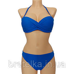 Модный стильный женский купальник сезон 2021 бандо синий Atlantic Beach 32189