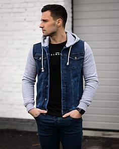 Чоловіча синя джинсова куртка
