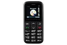 Телефон кнопочный бабушкофон с большими кнопками и крупным шрифтом для пожилых людей 2E T180 черный