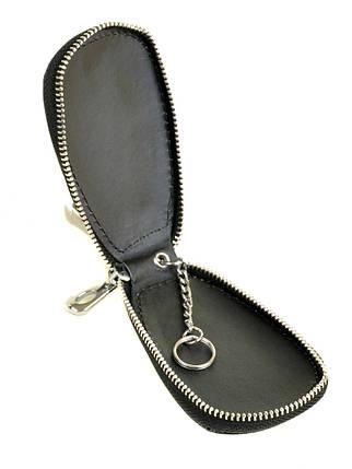 Ключниця для автомобільних ключів шкіряна чорна Dr.Bond F633, фото 2