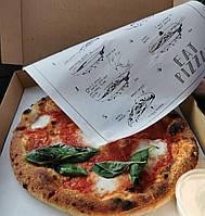 Пищевая бумага (жиростойкая) для пиццы с логотипом 60х30 см, фото 1