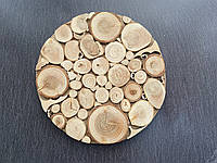 Дерев'яна підставка під гаряче з ялівцю, 15 см