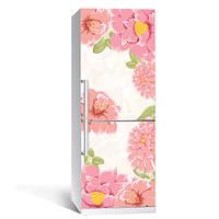 Інтер'єрна вінілова наклейка на холодильник Квіти 010 плівка самоклеюча глянцева з ламінуванням 650*2000