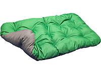 Лежак для собак мелких, средних и крупных пород. Двусторонний Зеленый + Серый