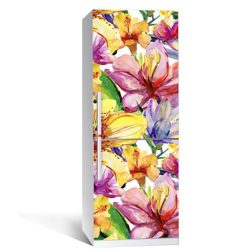 Интерьерная наклейка на холодильник Цветы 020 (виниловая пленка самоклеящаяся)