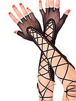 Перчатки из мелкой сеточки без пальцев