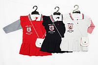 Платье детское трикотажное для девочки + сумочка. Еnzo minix 208, фото 1