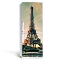 Интерьерная наклейка на холодильник Эйфелева башня 03 пленка самоклеющаяся глянцевая с ламинацией 650*2000 мм