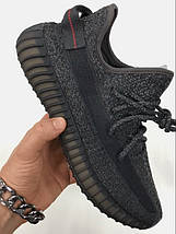 Мужские кроссовки Adidas Yeezy Boost 350 V2 Static Black Reflective, кроссовки адидас изи буст 350, фото 2