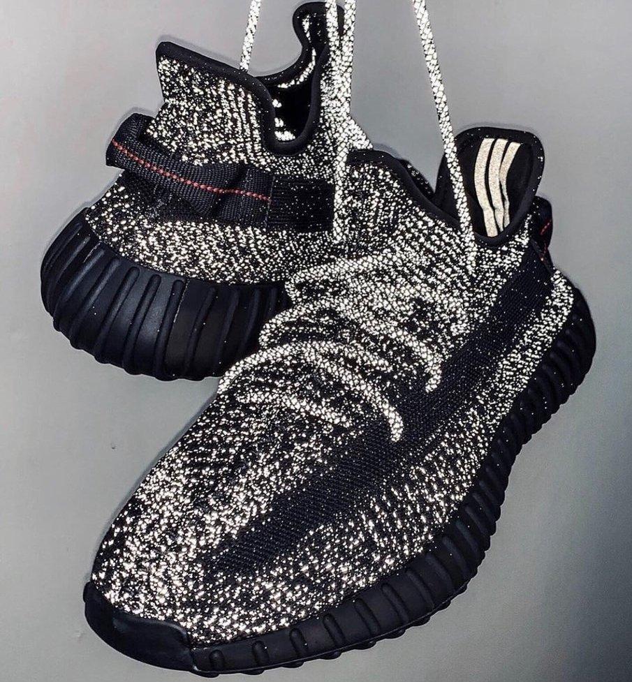 Мужские кроссовки Adidas Yeezy Boost 350 V2 Static Black Reflective, кроссовки адидас изи буст 350