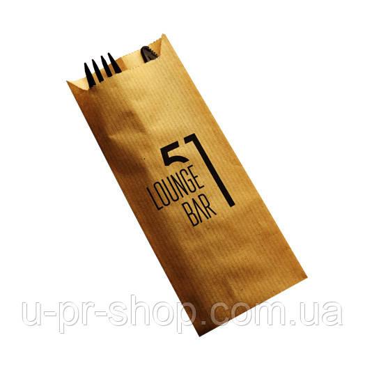 Паперова упаковка для столових приладів з логотипом