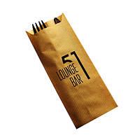 Паперова упаковка для столових приладів з логотипом, фото 1