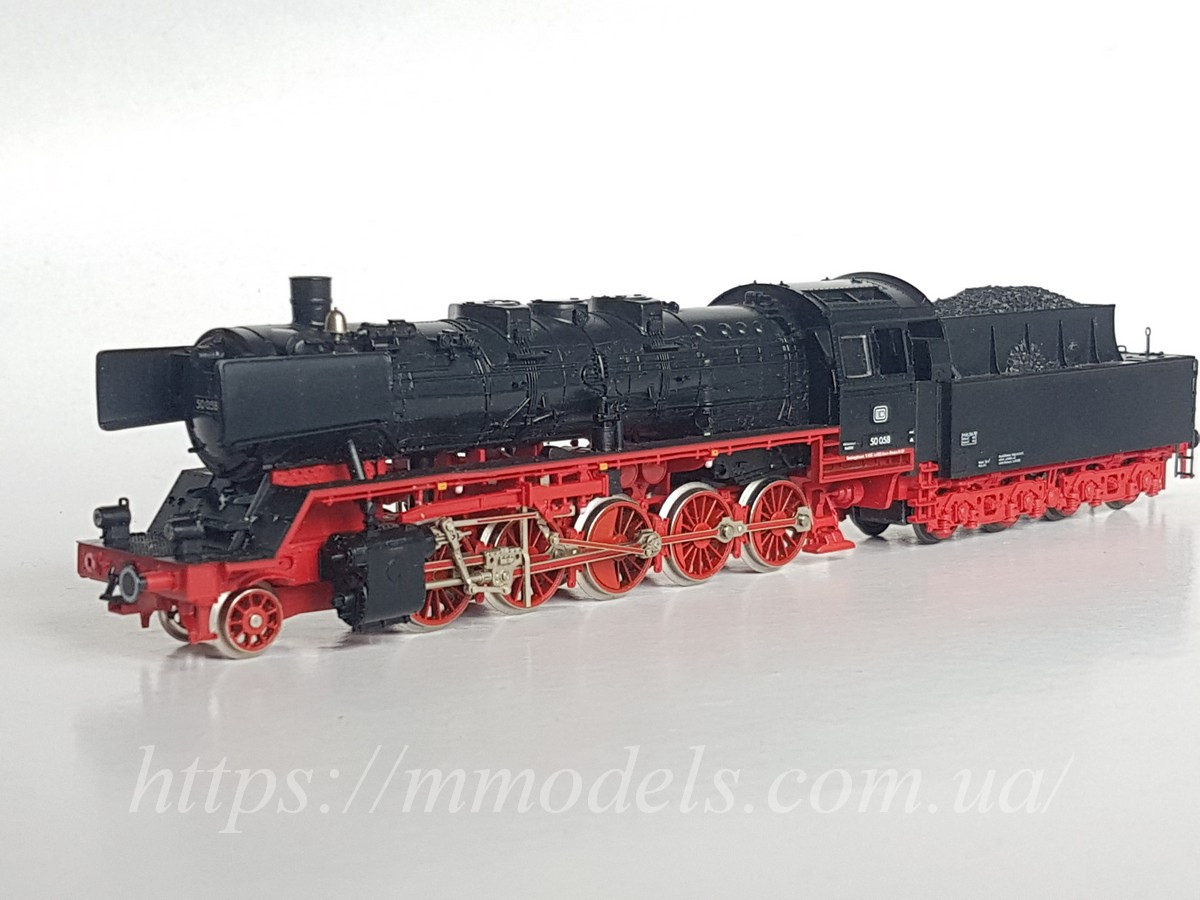 Fleischmann 4174 Масштабна модель паровоза серії BR50-008, приналежності DB,б/у масштабу Н0 1:87