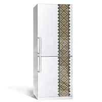 Интерьерная наклейка на холодильник Вышиванка 1 (виниловая пленка)