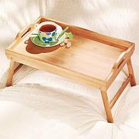 Столик Поднос для завтрака в постель Бамбуковый 50х30х24.5 см