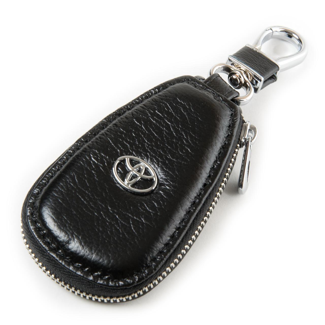 Ключница для автомобильных ключей кожаная черная Dr.Bond F633