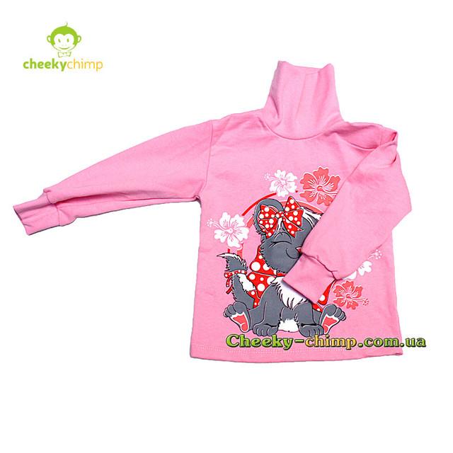 Водолазка детская с начесом на девочку Розовая 1,5 ― 2 года