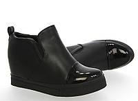 Женские ботинки танкетка, слипоны