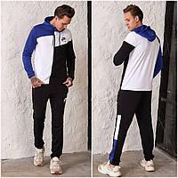Чоловічий спортивний костюм Nike AIR з двуніткі чорно/електрик (4 кольори) РВ/-42325
