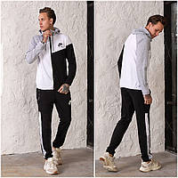 Чоловічий спортивний костюм Nike AIR з двуніткі чорно/сірий (4 кольори) РВ/-42325