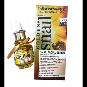 Сыворотка для лица Wokali Q10 Golden Snail с муцином улитки и коферментом 8 в 1 40 мл