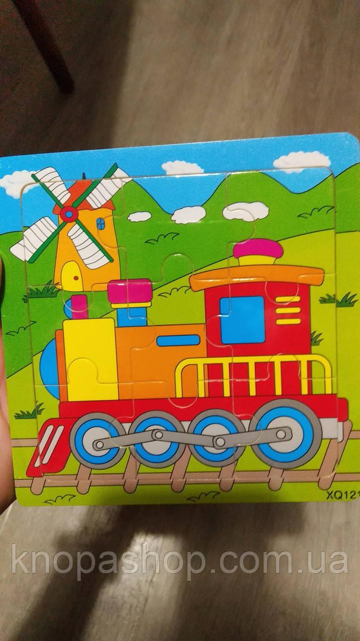 Дерев'яні пазли транспорт. Поїзд