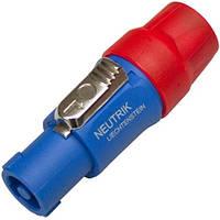 Штекер Спикон 4-х контактный, под шнур, корпус пластик, красно-синий, Neutrik NL4FC
