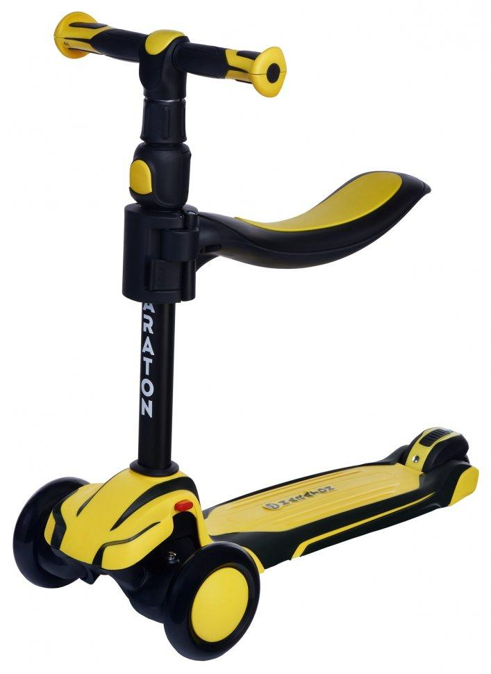 Детский самокат-толкар (возраст 3+) Maraton Flex B / 2021, Желтый